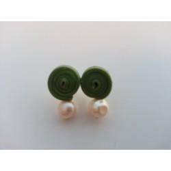 Pendiente corto silicona verde